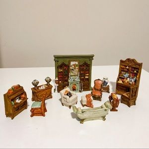 Miniature | 90s Library Figurine Collectible Set